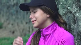 Unhappy Teen Girl Crying. Stock video in 4k or HD resolution stock video