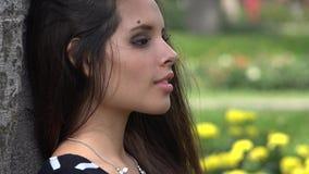 Unhappy Teen Girl stock video footage