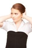 Unhappy teenage girl Stock Image