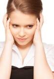 Unhappy teenage girl Stock Photo