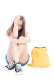 Unhappy teenage girl Royalty Free Stock Image