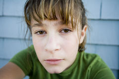 Unhappy teenager portrait Royalty Free Stock Image