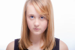 Unhappy teenager teen girl royalty free stock photo