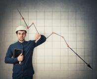 Decreasing graph royalty free stock photos