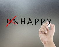 Unhappy to happy Royalty Free Stock Photography