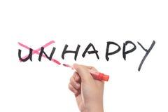 Unhappy to happy Stock Image