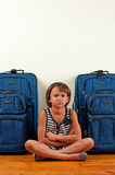 Unhappy traveller Royalty Free Stock Photography