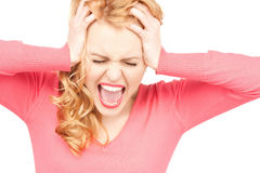 Unhappy woman Stock Images