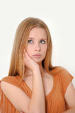 Unhappy woman Stock Photo