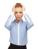 Unhappy woman Stock Photo