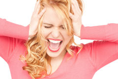Unhappy woman Stock Image