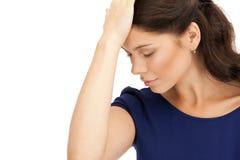 Unhappy woman Stock Photos