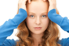 Unhappy woman Royalty Free Stock Photo