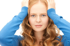Unhappy woman Royalty Free Stock Images