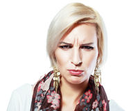 Unhappy woman Royalty Free Stock Photos