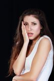 Unhappy woman Royalty Free Stock Photography