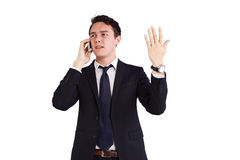 Unhappy young Caucasian business man Stock Image