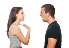 Unhappy young couple having an argument Stock Photography