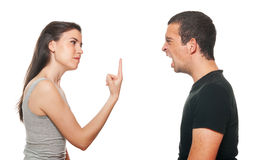 Unhappy young couple having an argument Royalty Free Stock Photo