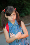 Unhappy young girl Royalty Free Stock Photos