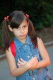 Unhappy young girl royalty free stock photos