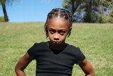 Unhappy young girl Royalty Free Stock Photo