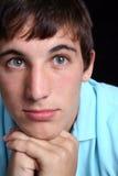 Unhappy Young Man. Up Ccose photo of unhappy young man Stock Photos
