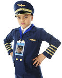 Unhappy Young Pilot Stock Image
