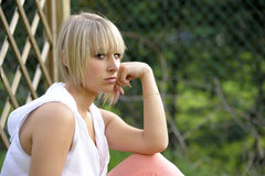 Unhappy young woman Stock Photography