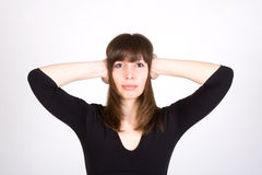 Unhappy Young Woman Royalty Free Stock Photo
