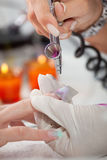 Unhas Airbrushing Fotografia de Stock Royalty Free