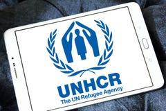 UNHCR, agência do refugiado do UN, logotipo fotos de stock royalty free