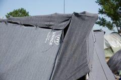 UNHCR Tent royalty-vrije stock afbeeldingen