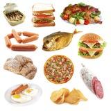 unhealthly食物 免版税图库摄影