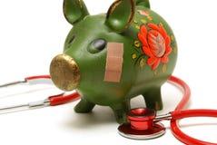 Unhealthy Bank Account Royalty Free Stock Photos