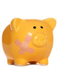 Unhealthy bank balance piggy bank Stock Photos