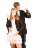 Unhealthy behaviour pregnant teenagers Stock Photos