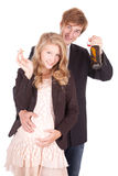 Unhealthy behaviour pregnant teenagers Stock Image