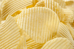 Unhealthy Crinkle Cut Potato Chips Royalty Free Stock Images