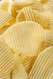 Unhealthy Crinkle Cut Potato Chips Royalty Free Stock Photography