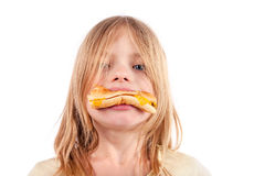 Unhealthy diet- hamburger Stock Images