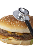 Unhealthy fast food burger. Royalty Free Stock Photography