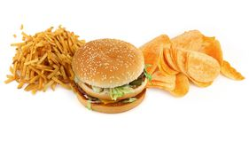 Unhealthy food composition #2 Stock Photography