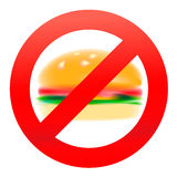 Unhealthy food, hamburger Stock Images