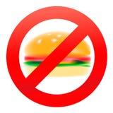 Unhealthy food, hamburger Stock Images