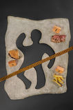 Unhealthy food hazard. Awareness. Stock Photos