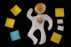 Unhealthy food hazard. Awareness. Stock Photos