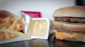 Unhealthy food stock video footage