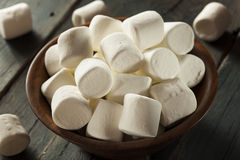 Unhealthy Large White Marshmallows Stock Image