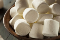 Unhealthy Large White Marshmallows Stock Photography